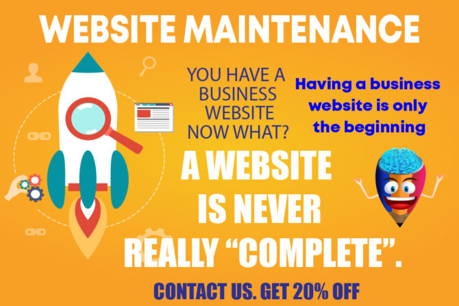 "Website Maintenance: A website is never really ""complete"""