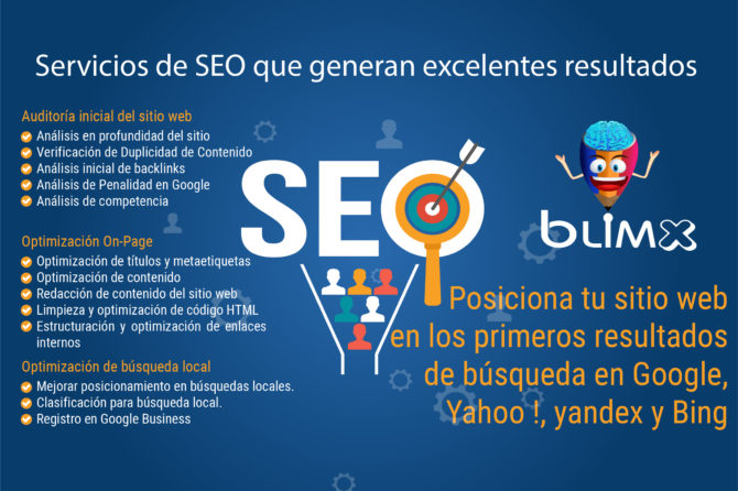 Posiciona tu sitio web en el top de Google, Yahoo! y Bing
