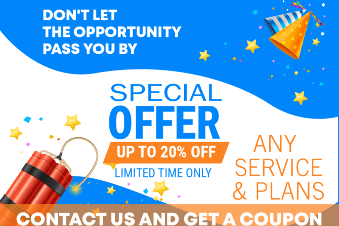 Don't  let the opportunity pass you by. Special Offer