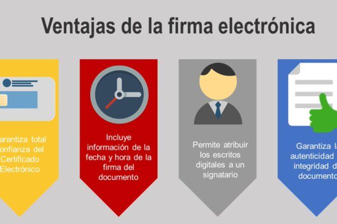 Ventajas de la firma electrónica